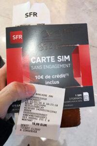 SFRのプリペイドSIM